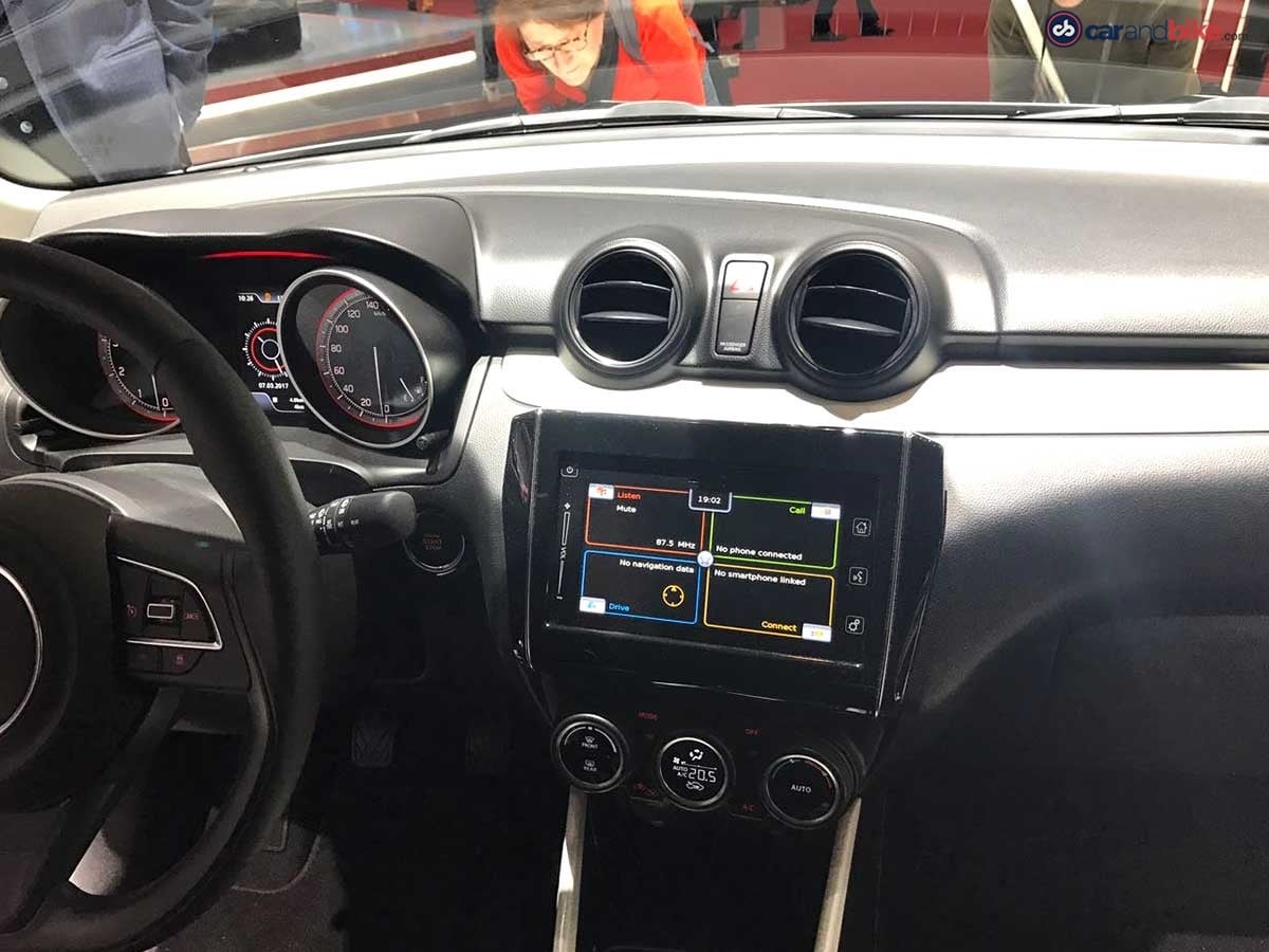 The Swift gets an infotainment system similar to the Baleno and the Ignis and will also boast of features like Apple CarPlay and Android Auto compatibility, Bluetooth AUX and USB connectivity, auto climate control and much more.
