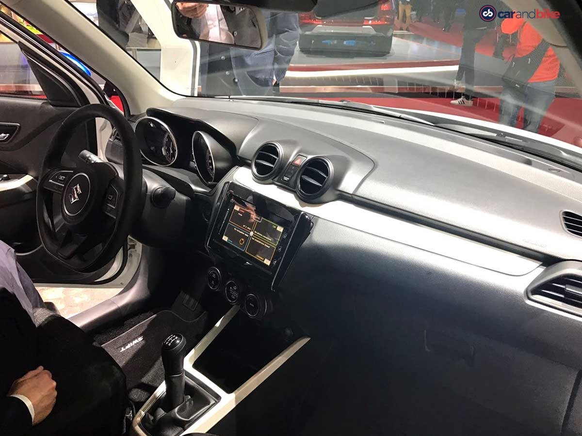The inside of the new-gen Swift hatchback will also see some major changes including new upholstery, all-new dashboard, flat-bottom steering wheel with mounted controls, twin-pod instrument cluster, touchscreen infotainment system and premium quality plastic for the switches and knobs