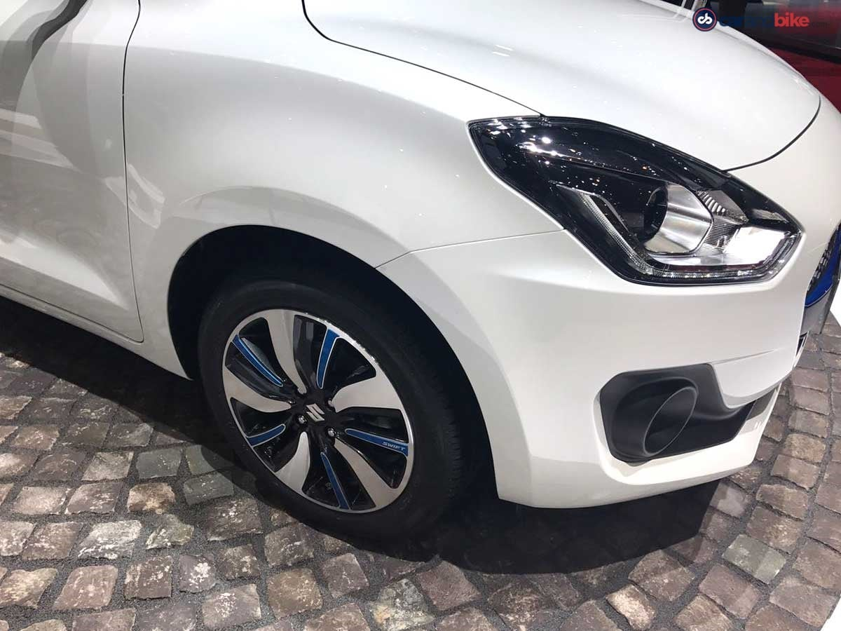 The upright A pillar accentuates the Swift styling while the new alloy wheels add a bit of sportiness to it