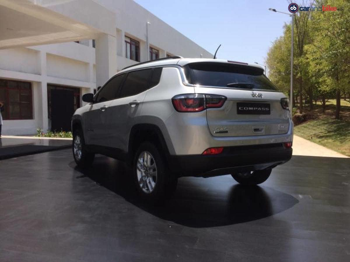 This model showcased today is the pre-production version of the Jeep Compass and the production model will some minor changes in styling.