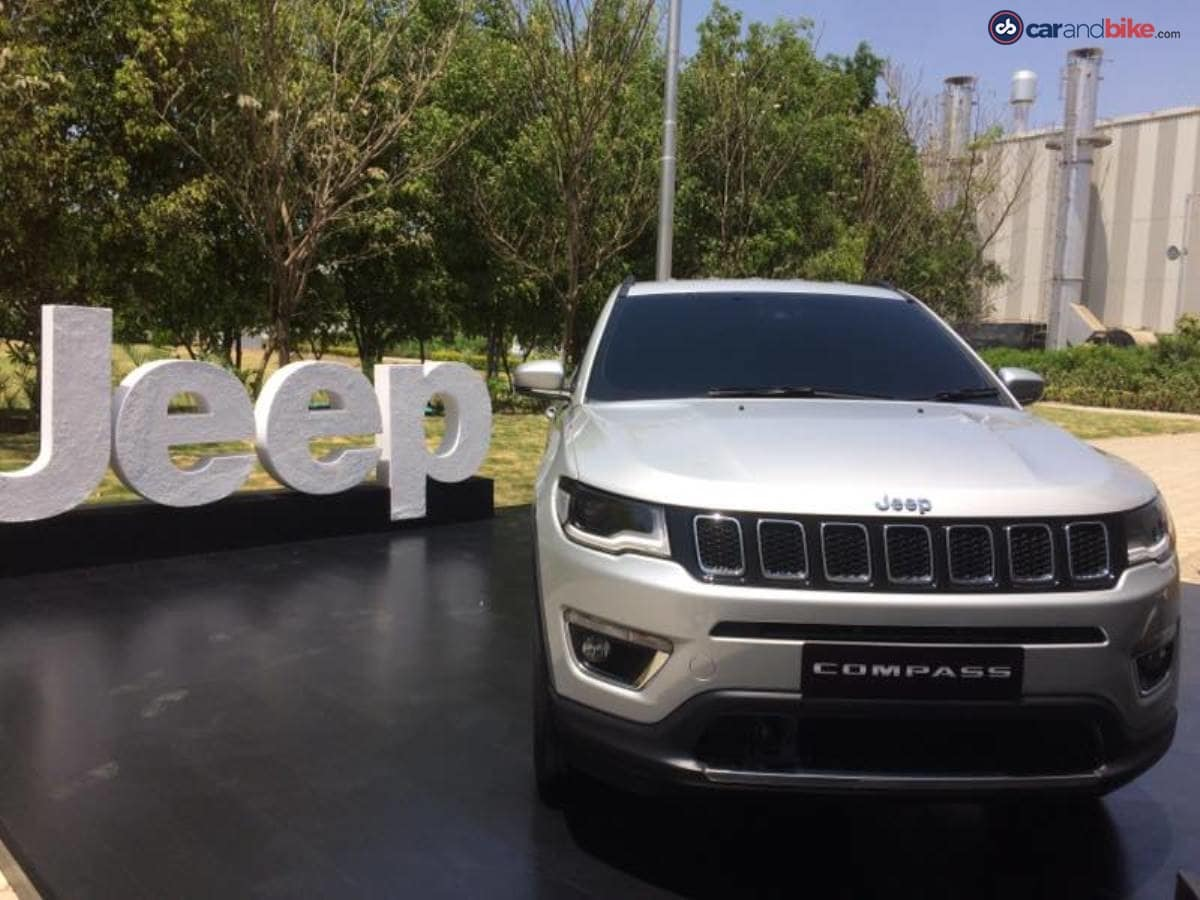 The Jeep Compass was unveiled at the company's Ranjangaon plant near Pune,in Maharashtra, where it will be manufactured for India and other export markets.