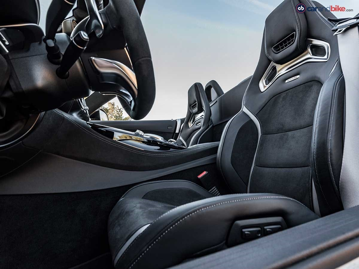 The car gets comfortable race-style seats upholstered in leather.