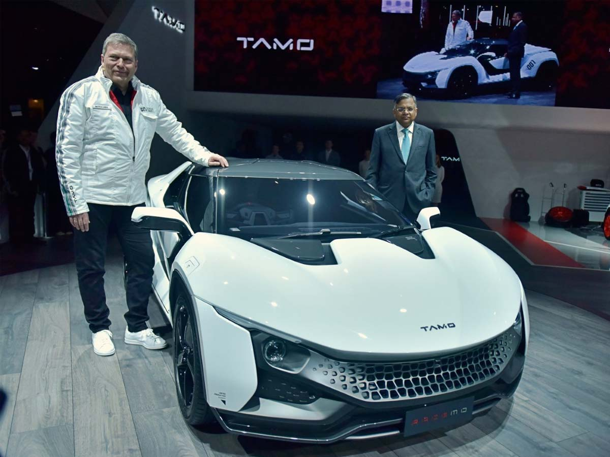 Guenter Butschek, CEO & MD, Tata Motors unveils the all-new TAMO Racemo, the first product under Tata Motors' new sub-brand.