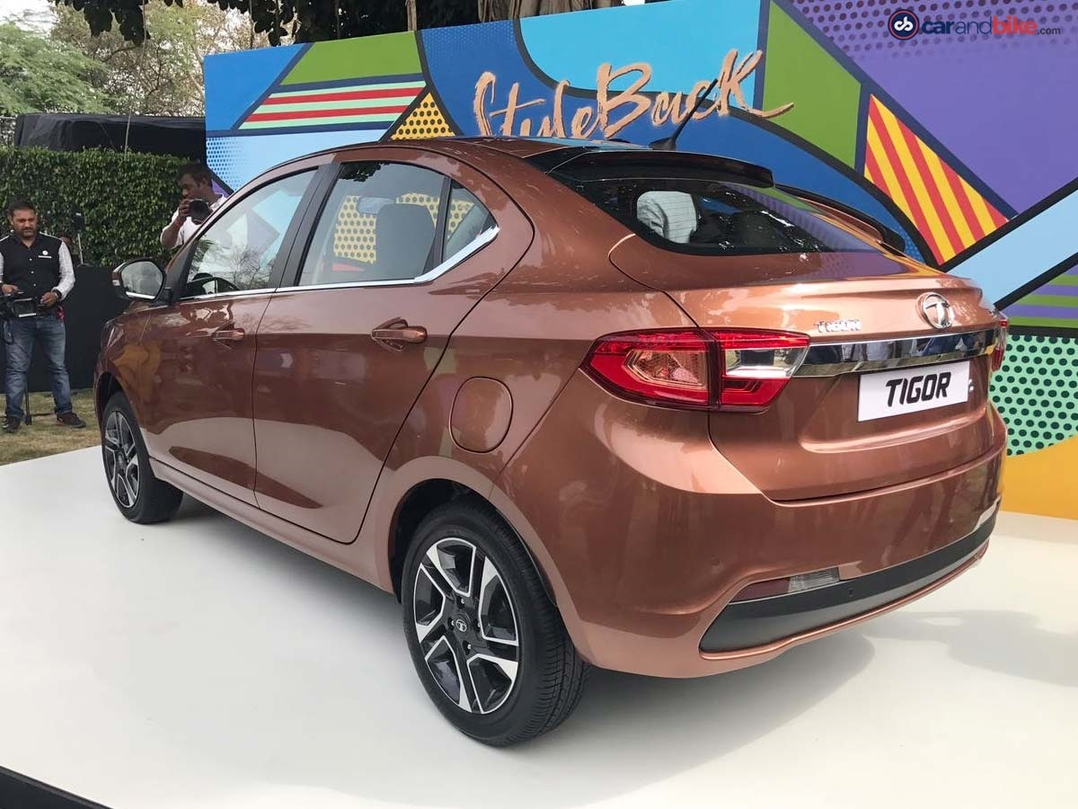 The car comes with a stylish coupe-like sloping roofline that seamlessly meets the muscular boot lid. Tata calls this design 'Styleback'