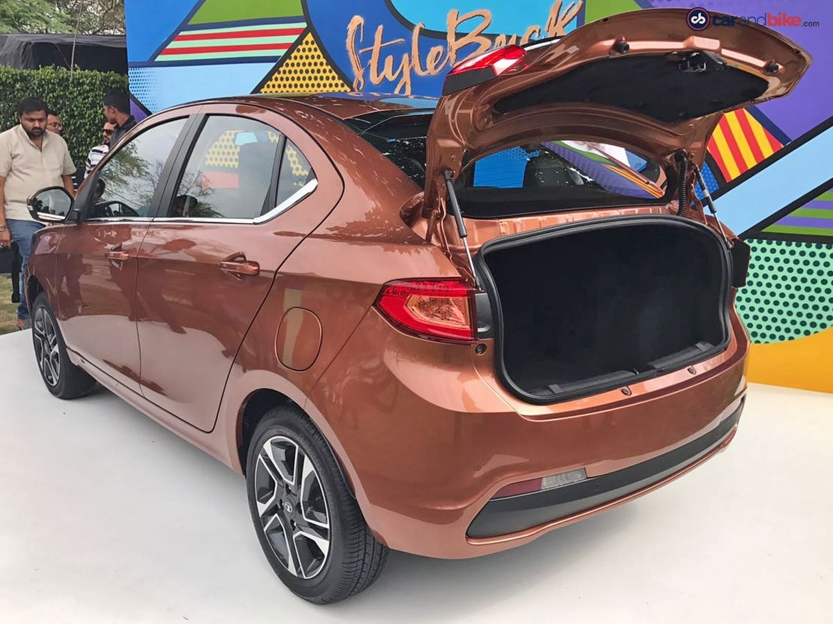 The boot opens like a regular sedan on the Tigor