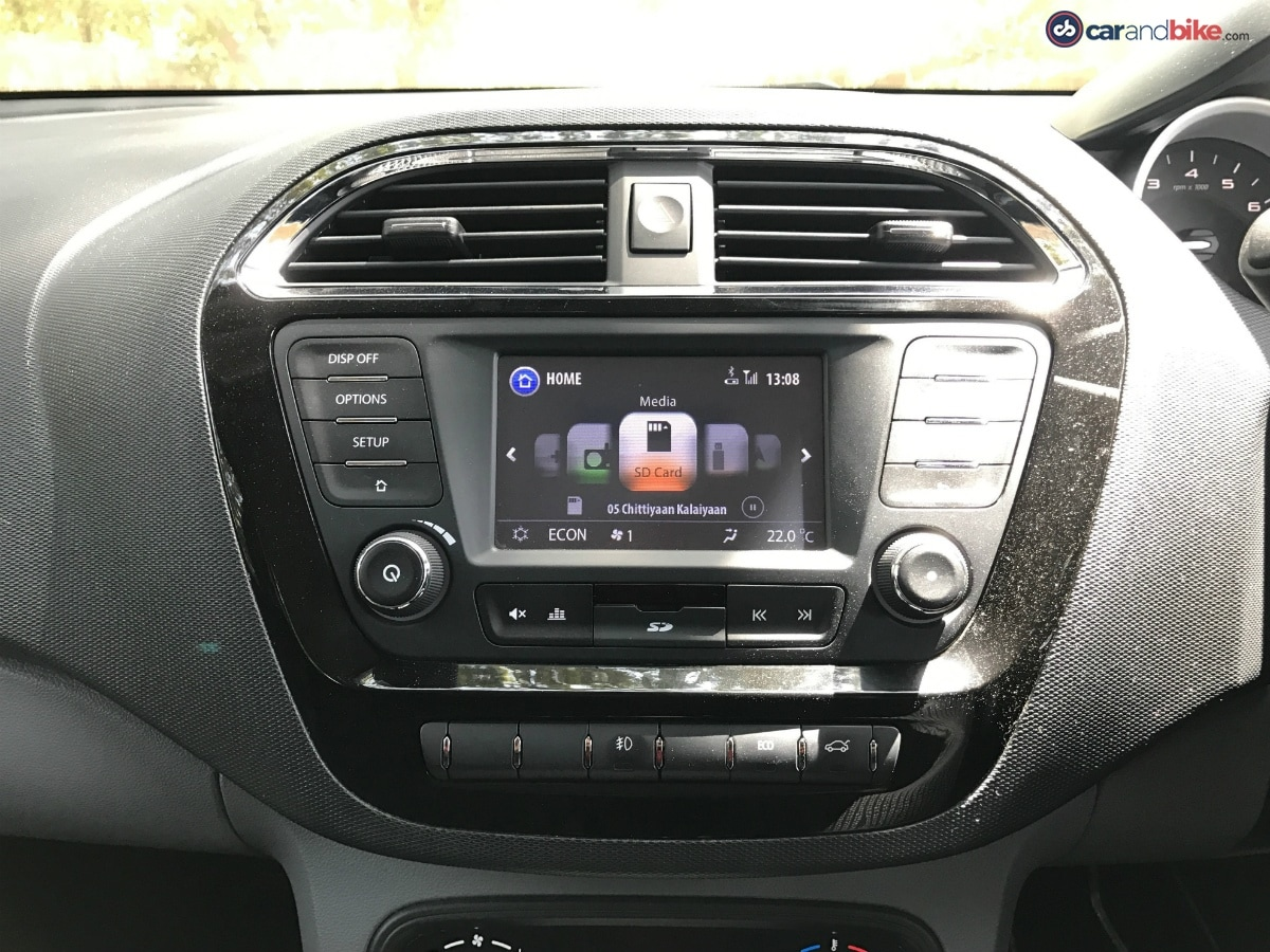 The infotainment system on the Tigor is a touchscreen and it gets the MirrorLink function, which can be used to mirror the contents of your smartphone on the display.