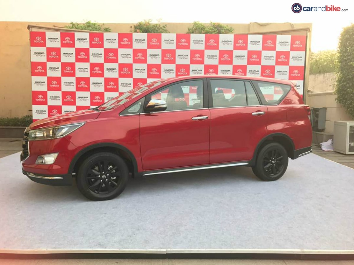 The overall silhouette of the Innova Crysta Touring Sport remains the same.