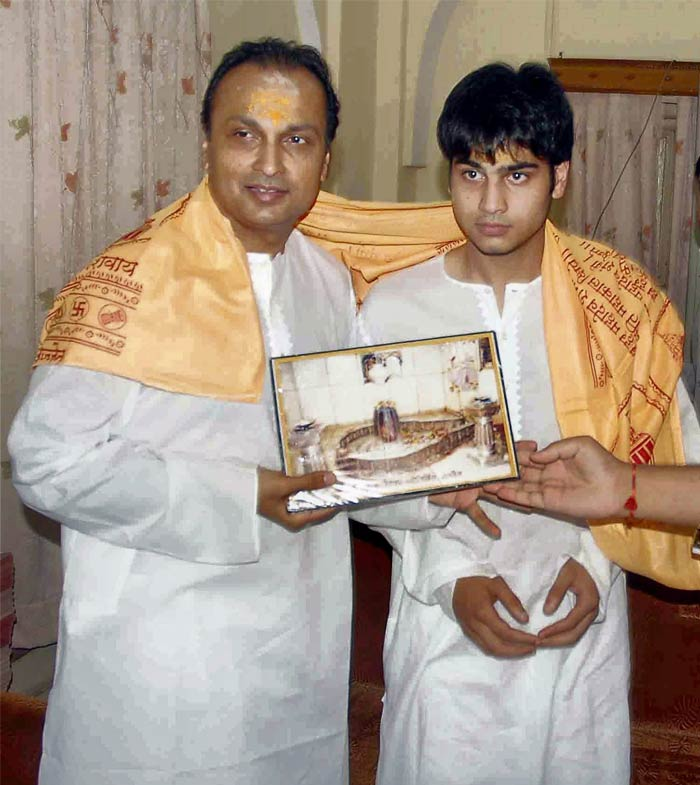 Anil Ambani Sons Name Anil Ambani And Son at Mahakal