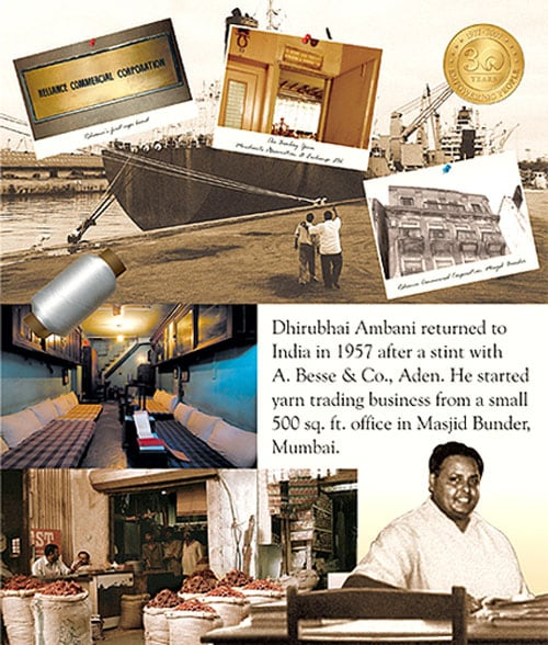 The legendary Dhirubhai Ambani