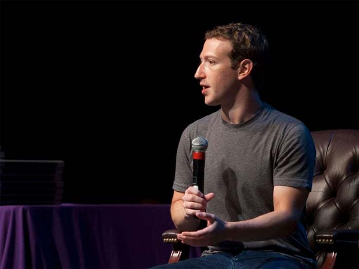 The list, which evaluates corporate leaders' business performance, was topped by Mark Zuckerburg of social networking giant Facebook.