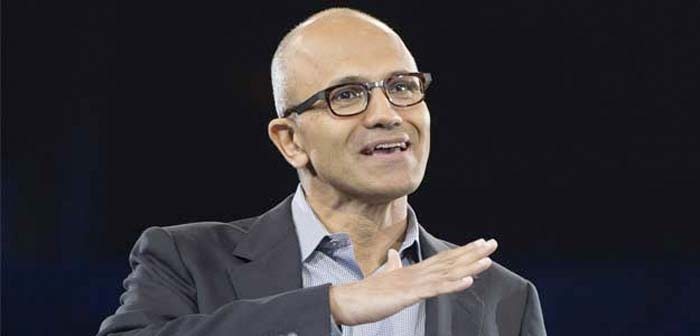 Satya Nadella, chief executive officer of tech giant Microsoft, was placed at the fifth spot on the Fortune list.