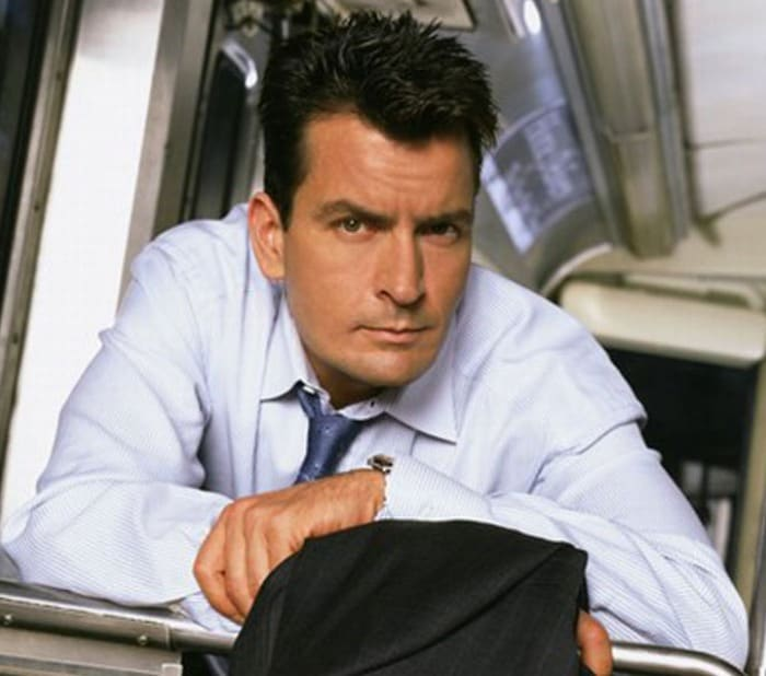 Charlie Sheen gorges on healthy snacks