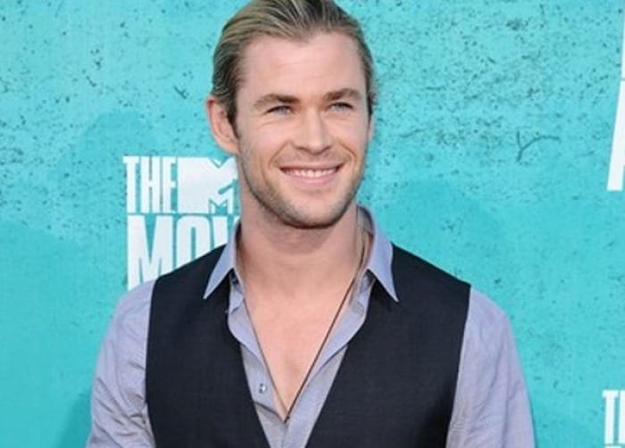 Chris Hemsworth on a crash diet for movie