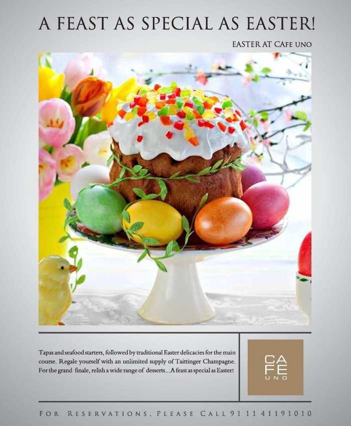 Easter brunch at Cafe Uno, Shangri-La, New Delhi