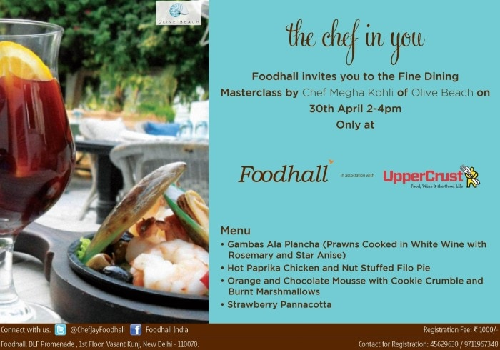 Master Class at Foodhall, New Delhi