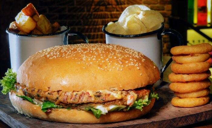 Mega Burger and Hot Dog
