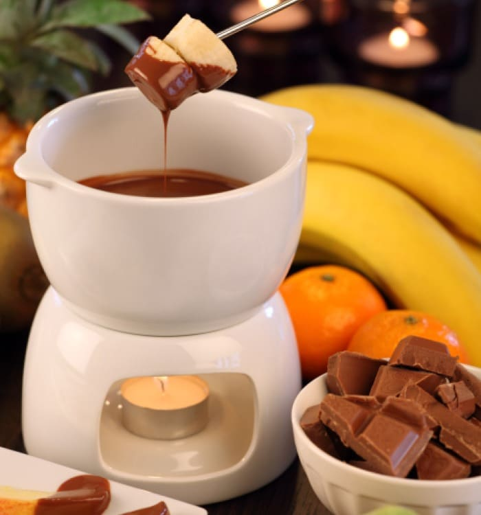 A must try: Chocolate Fondue