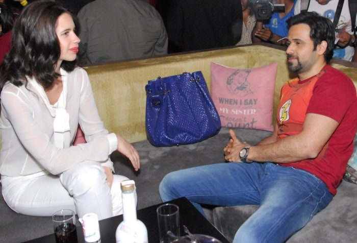 Actors Emraan Hashmi and Kalki Koechlin spotted at Cafe Ludus
