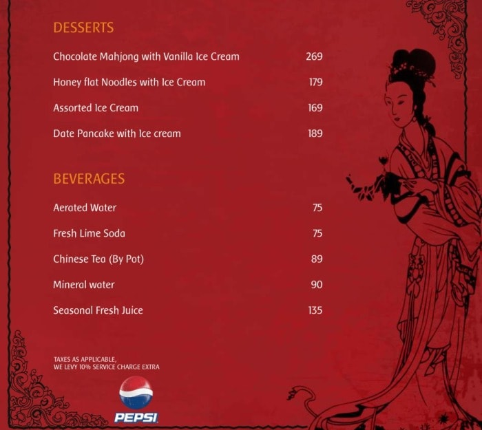 Chopsticks Menu