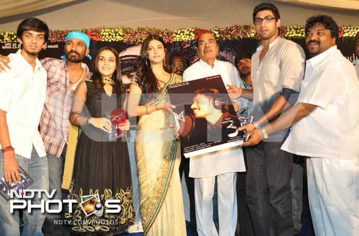 Dhanush, Aishwaryaa at the music launch of 3