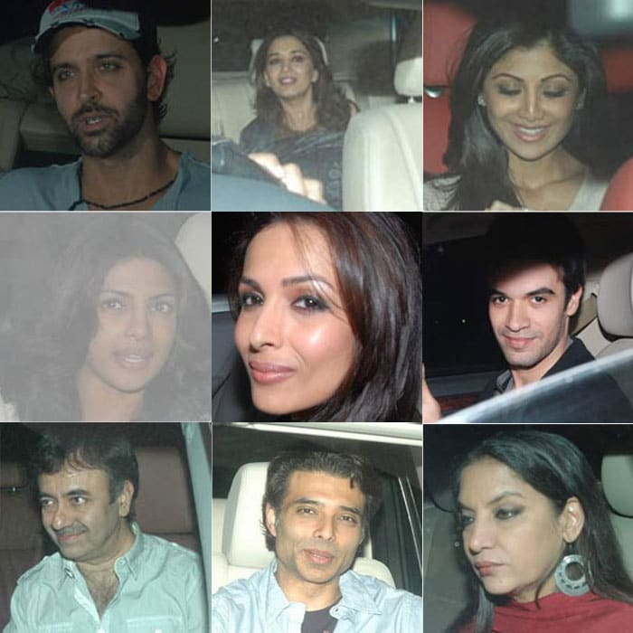 Stars at 7 Khoon Maaf screening
