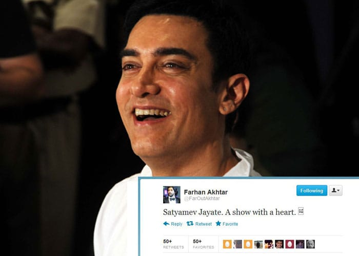 Stars give Aamir's show an A+ on Twitter