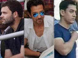 Photo : Aamir-Kiran, Hrithik, Rahul Gandhi at Wankhede