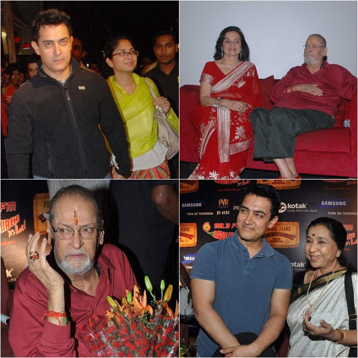 Aamir Khan, Shammi Kapoor attend the screening of Teesri Manzil