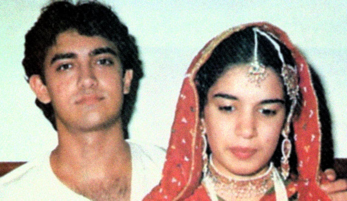 Aamir Khan with Reena Dutta