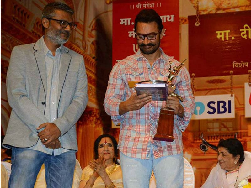 Aamir Khan Honoured At Dinanath Mangeshkar Awards