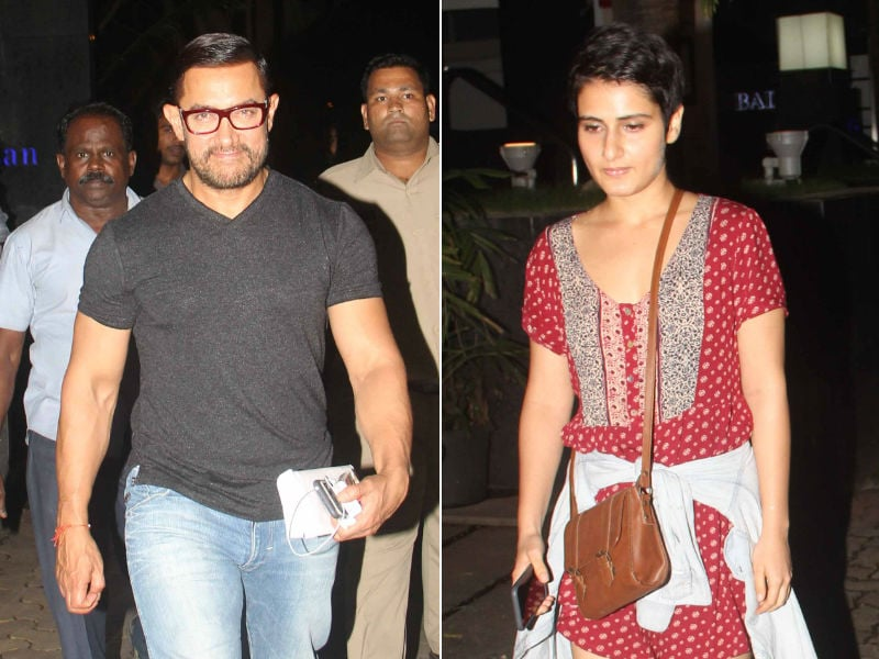Aamir Khan Dines With Dangal Daughters