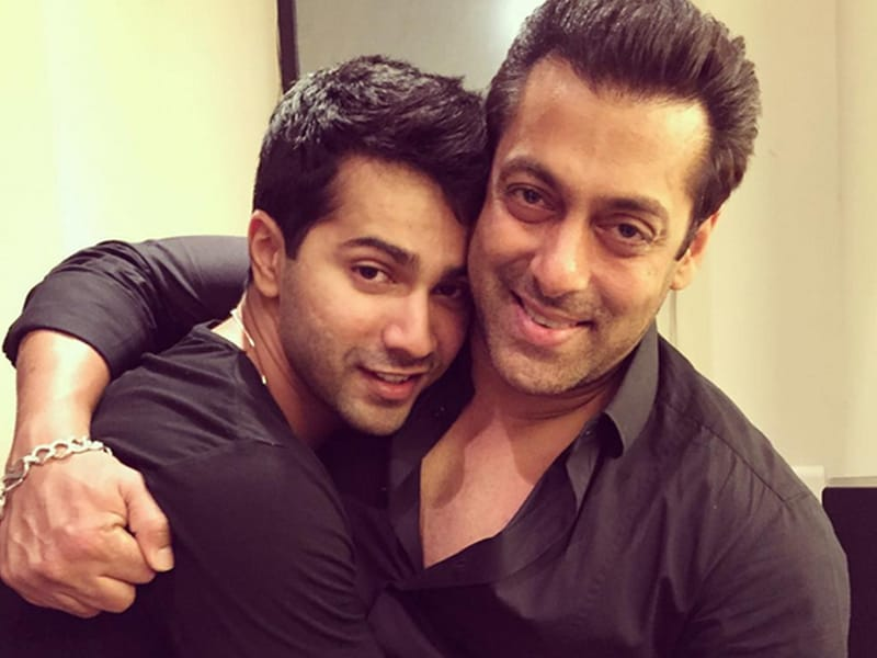 Salman, Varun Bond at ABCD 2 Party