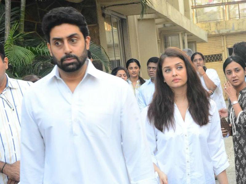 Aishwarya Rai, Abhishek Bachchan At A  Friend's Funeral