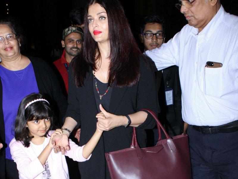 Aishwarya Rai Bachchan And Aaradhya Return From Vacation