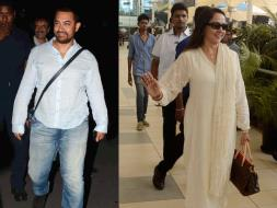 Photo : Airport Diaries: Aamir Khan, Hema Malini