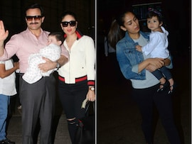 Taimur, Misha: Star Babies In And Out Of The Airport