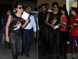 Photo : Battling Stormy Weather? 'FBI Agent' Priyanka Chopra Lands in Mumbai