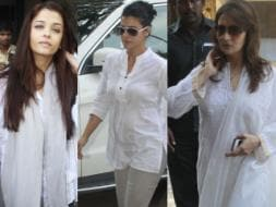 Photo : Aishwarya, Kajol at Madhuri Dixit's father's prayer meet