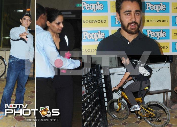 Fitness freaks: Aamir, Bipasha work out!