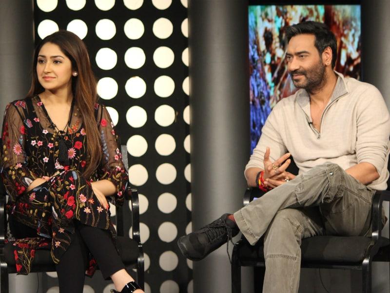 Ajay Devgn, Sayyeshaa Saigal, Erika Kaar Stopped By NDTV Studios