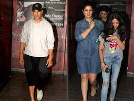 Sunday With Family: Akshay, Twinkle and Aarav Spotted at a Movie Theatre