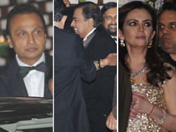 Photo : Sibling revelry: Ambani brothers at a party