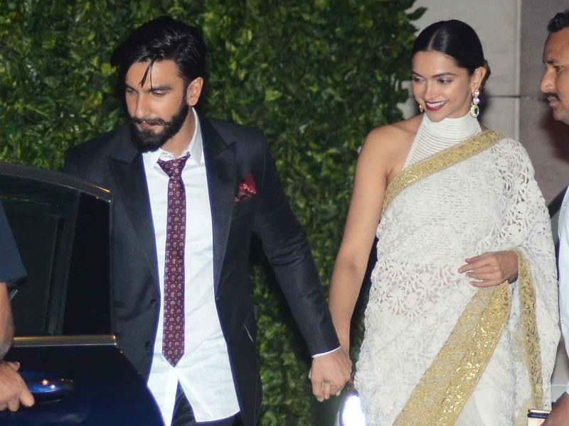 Deepika, Ranveer Hold Hands At Ambani Party. SRK, Bachchans Also Attend
