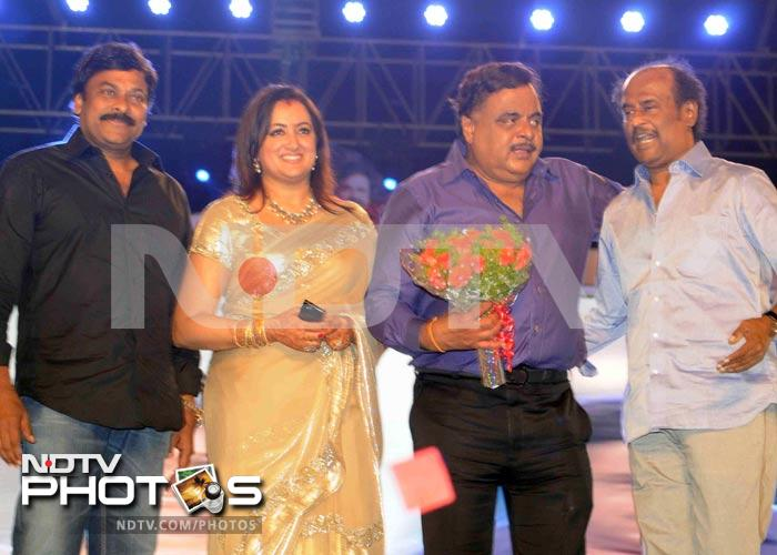 Rajinikanth, Chiranjeevi at Ambareesh's 60th birthday bash