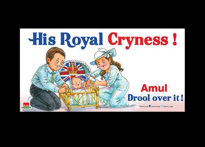 Amul toasts 'His Royal Cryness'