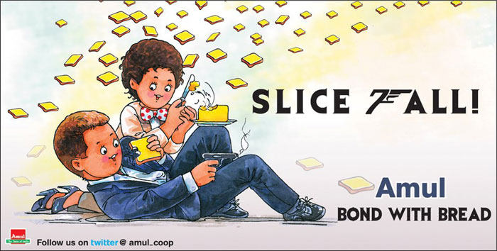 Amul butters up James Bond