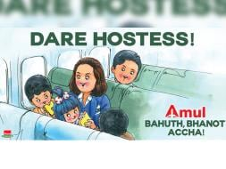 Photo : Amul's Utterly-Butterly Tribute to 'Dare Hostess' Neerja