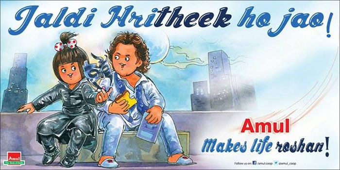 Hri<i>theek</i>, make life Roshan, says Amul