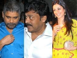 Photo : Nagarjuna at father's felicitation with Chiranjeevi, Tabu