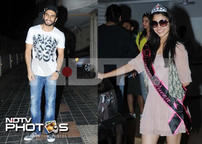 Anushka's band baaja birthday with Ranveer